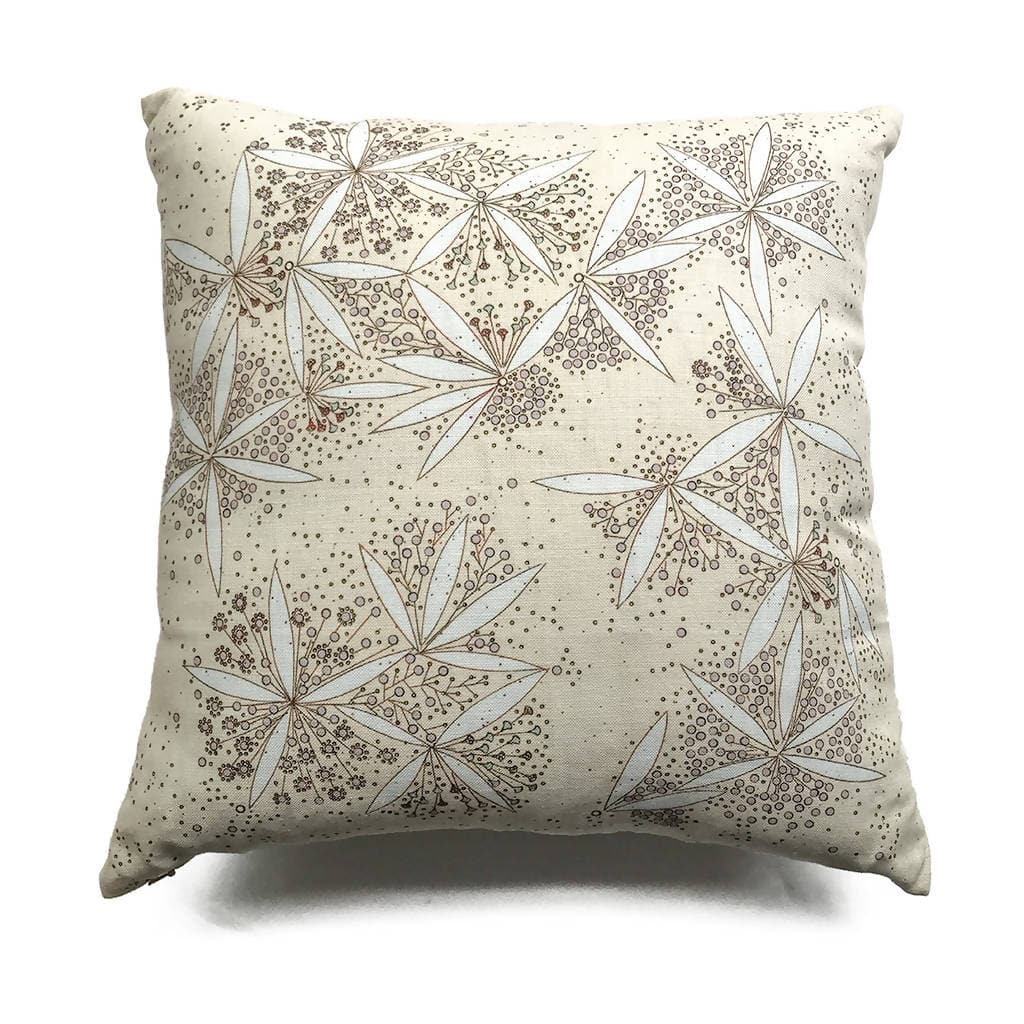 Pollen Abundance Linen Reversible Pillow