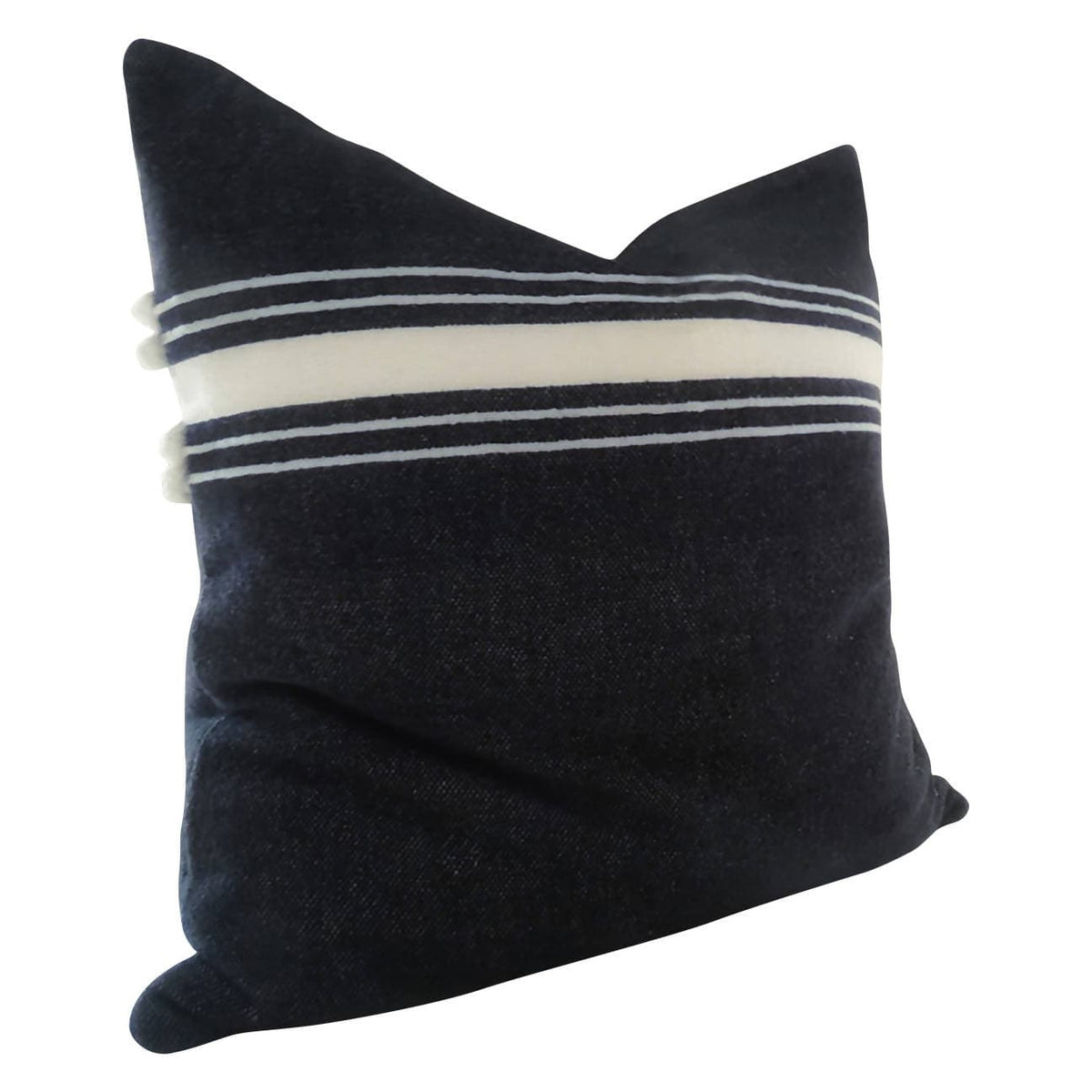"Over sized 26"" Ribbon Stripe Cotton Hand Loom Floor Pillow"