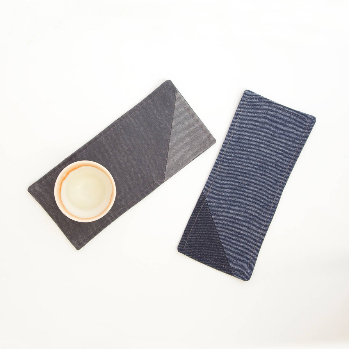 Pieced Denim Double Coaster