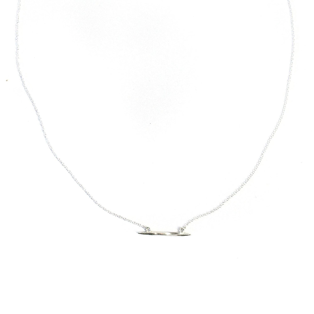 Lateral Twist Spike Necklace Sterling