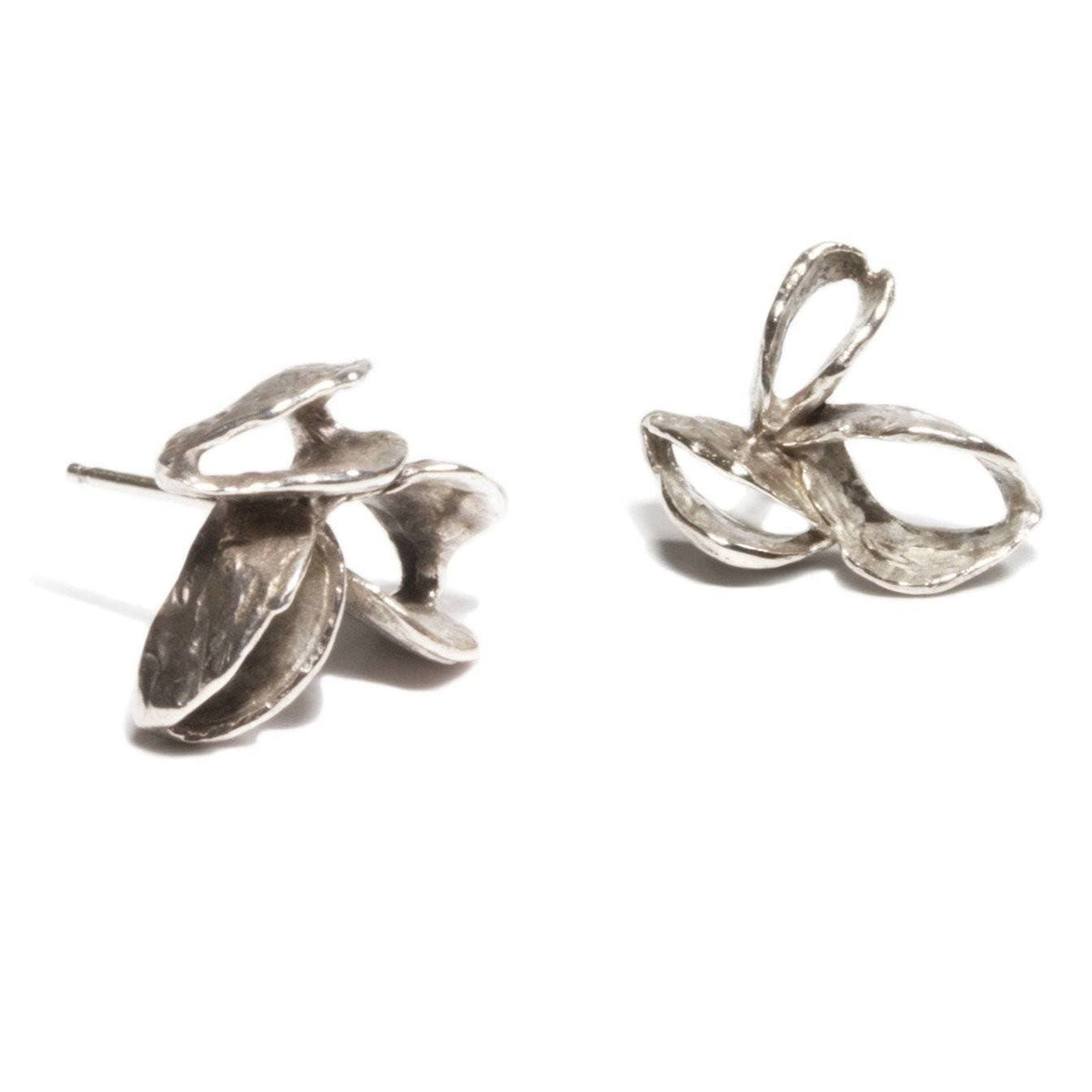 Banksia Pod Earrings - Silver