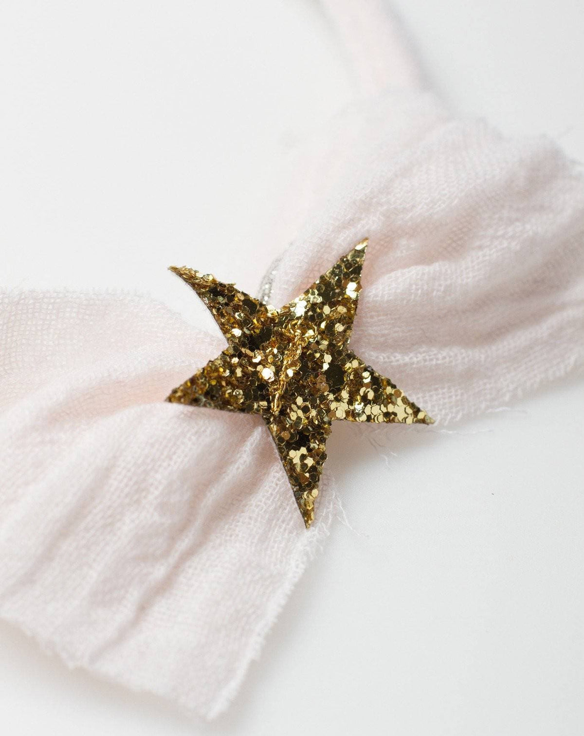 Gauze Star Hairband in Pink
