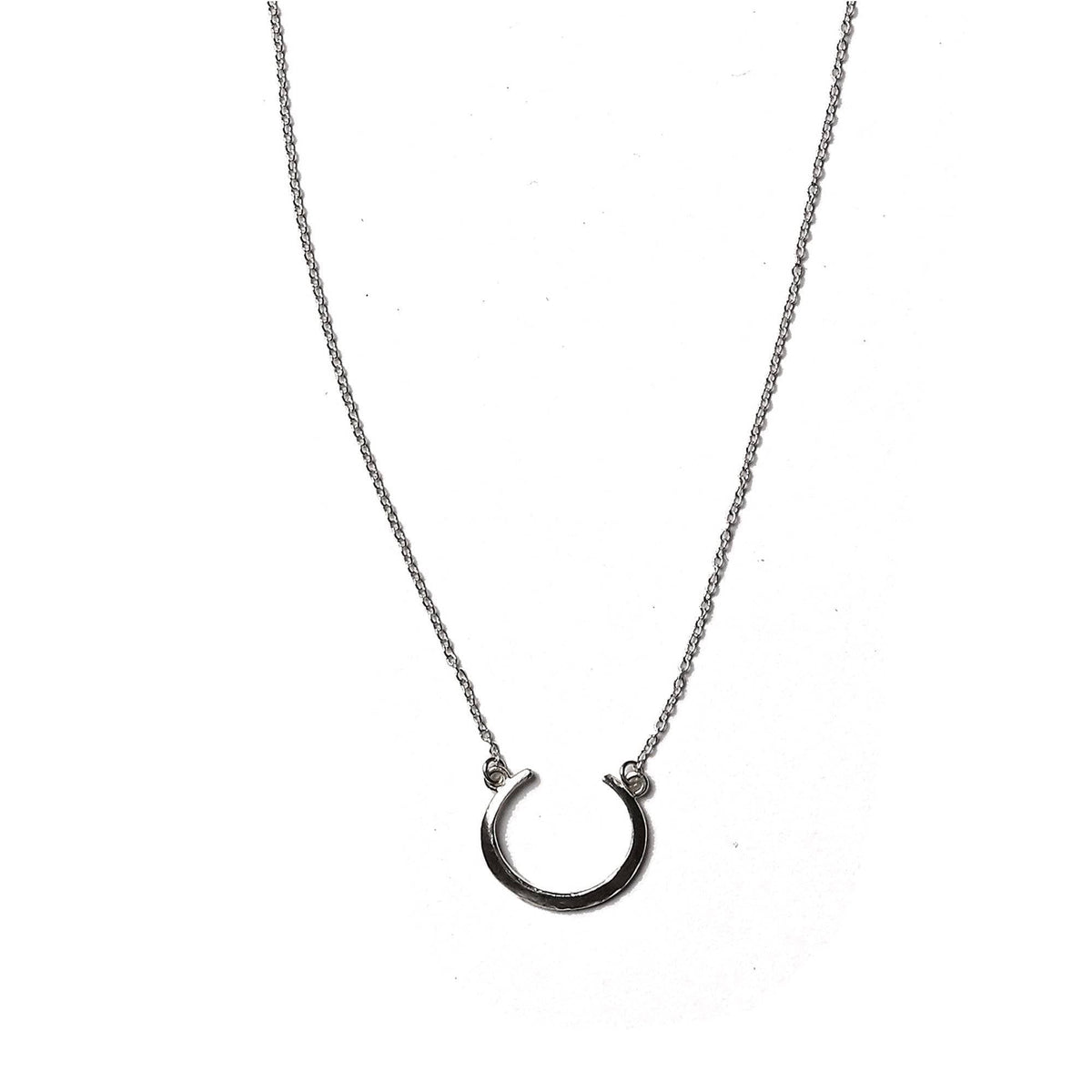 Petite Telson Crescent Necklace Sterling
