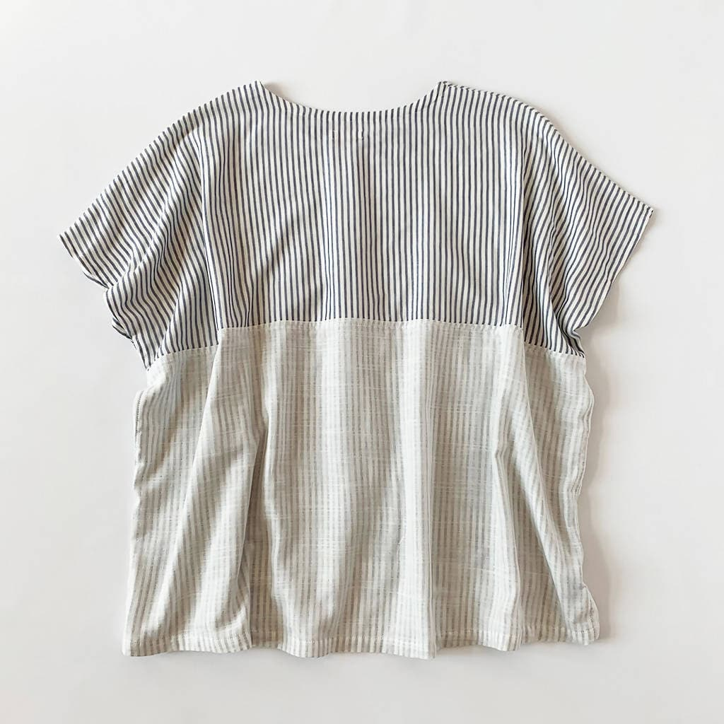 Stripe Cotton Double-Gauze Top