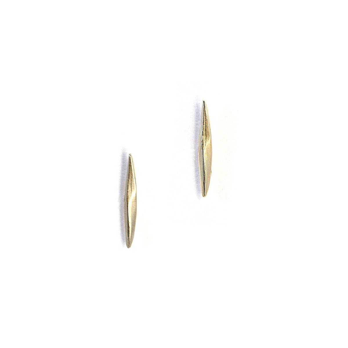 Short Twist Spike Studs Gold
