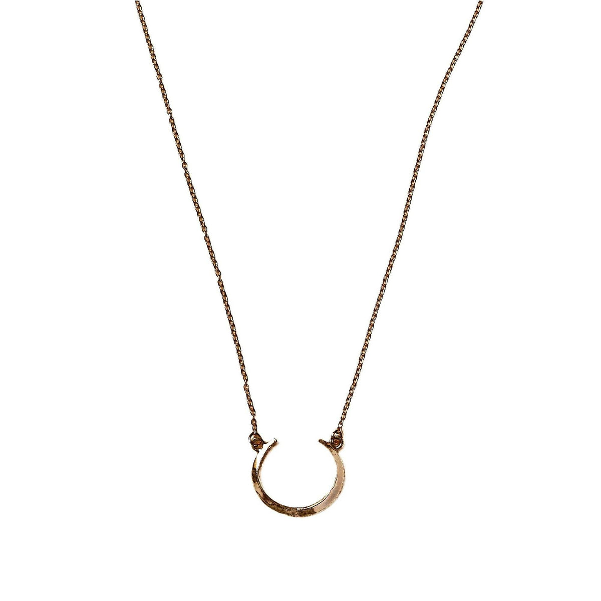 Petite Telson Crescent Necklace Yellow Gold