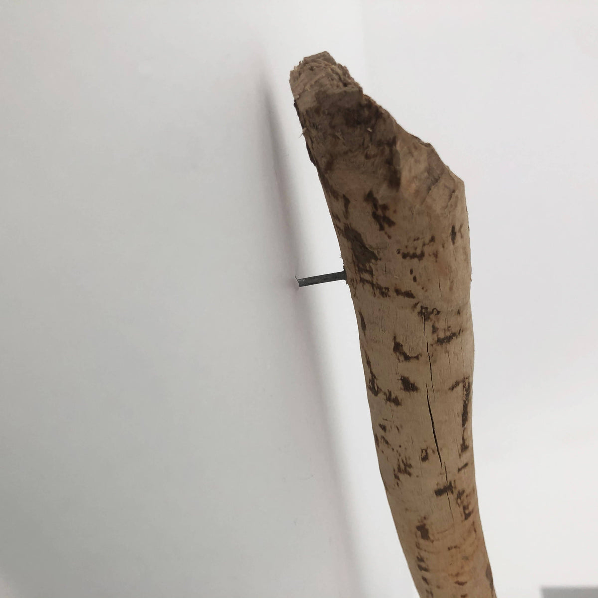 String-Wrapped Beaverstick Driftwood Wall Art (Off White + Grey + Tan)
