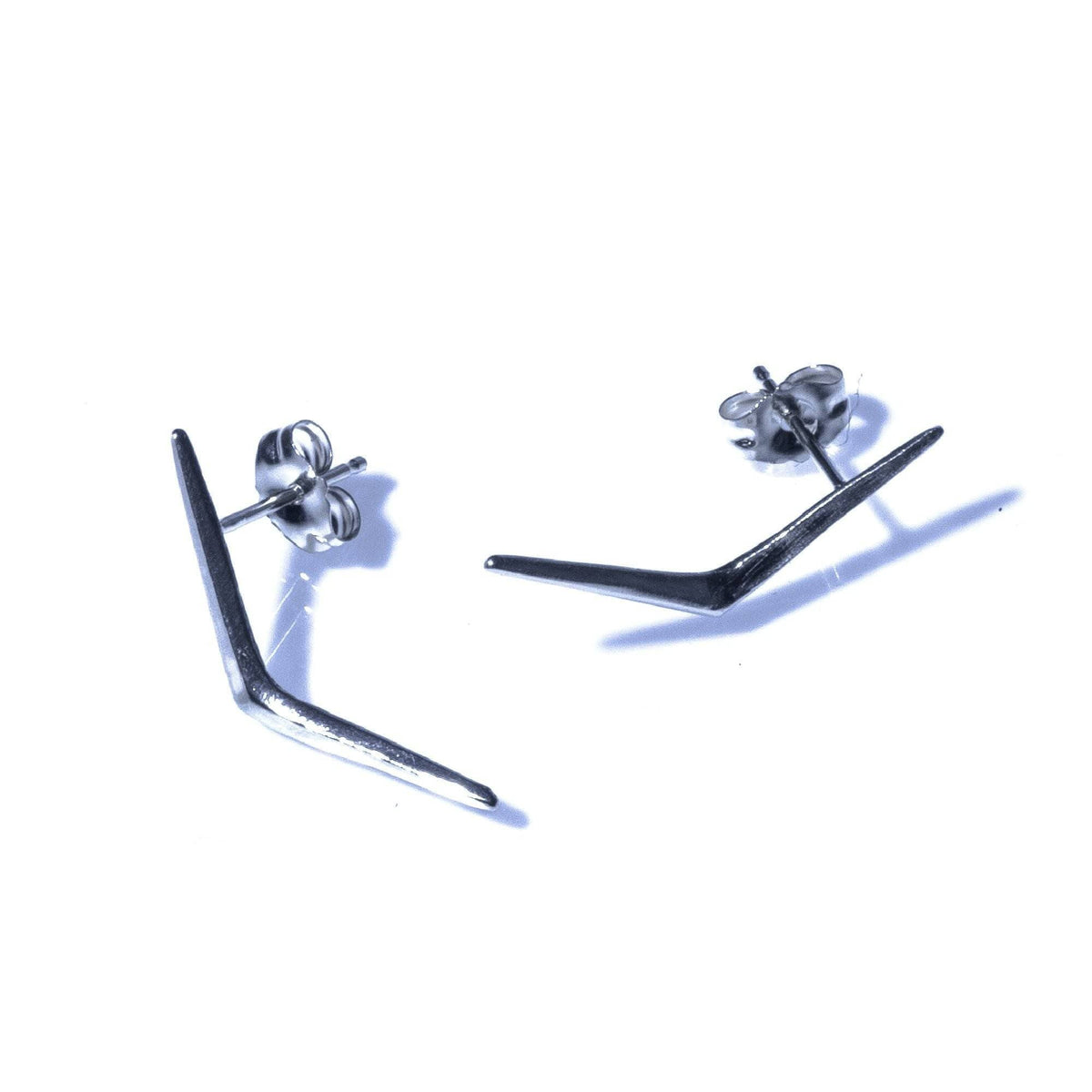 Petite Ray Studs Sterling