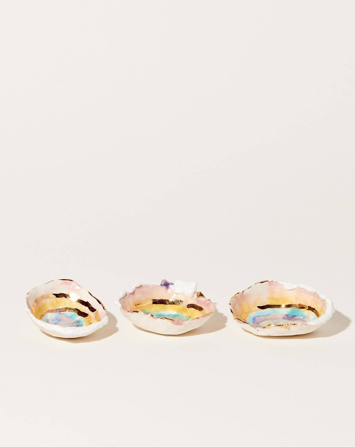Mini Prism Dish with Gold Ripples