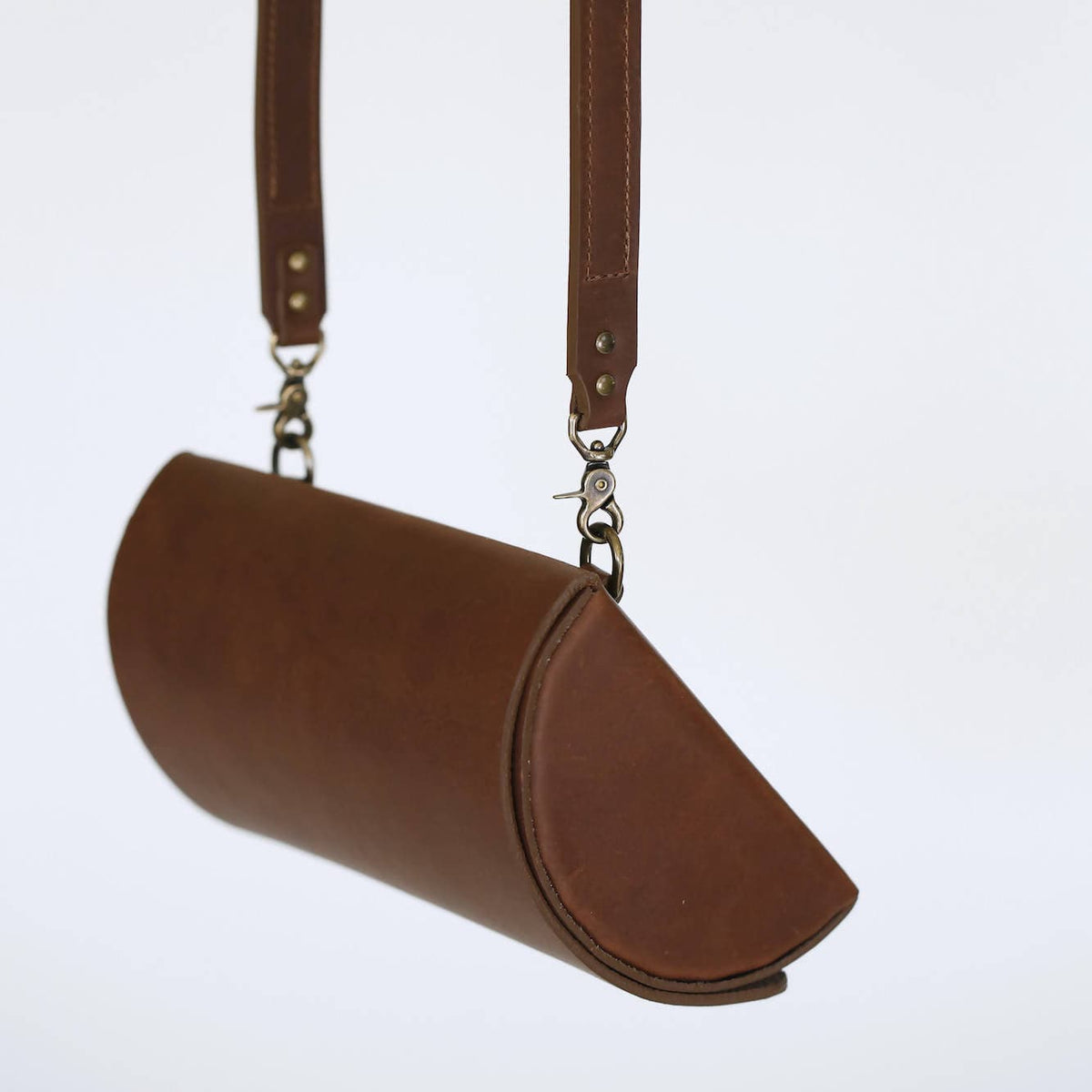Demilune Belt Bag in Tobacco