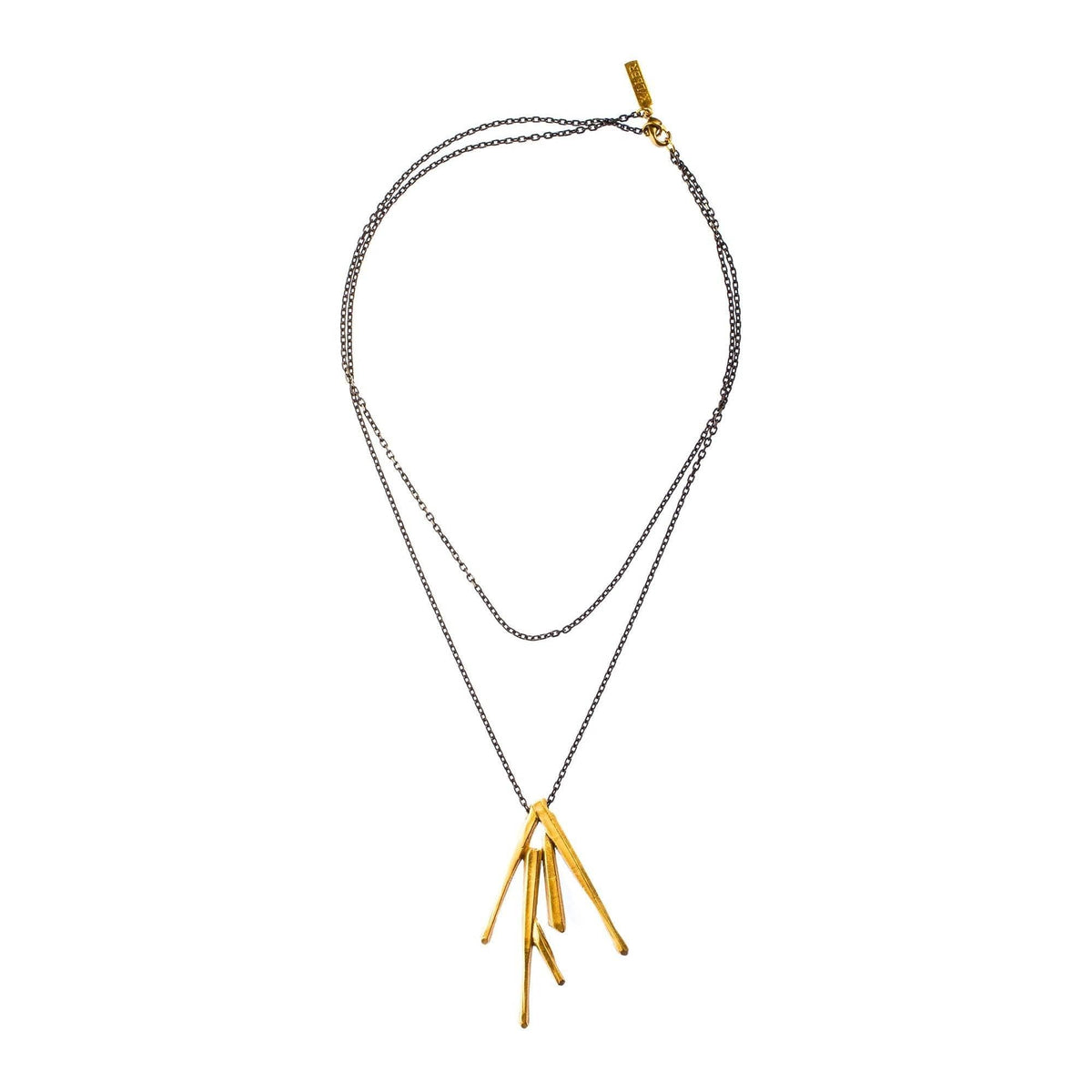 Adjustable Cuarzo Burst Pendant Brass