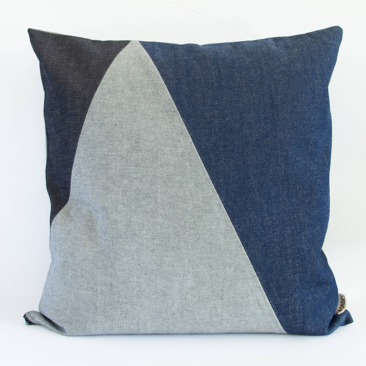 Pieced Denim Big Cushion