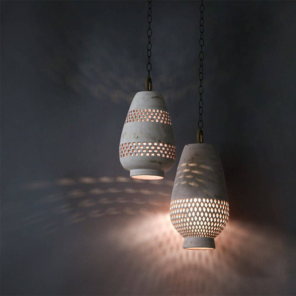 Atzompa Lighting - Diamantes Pendant, size B