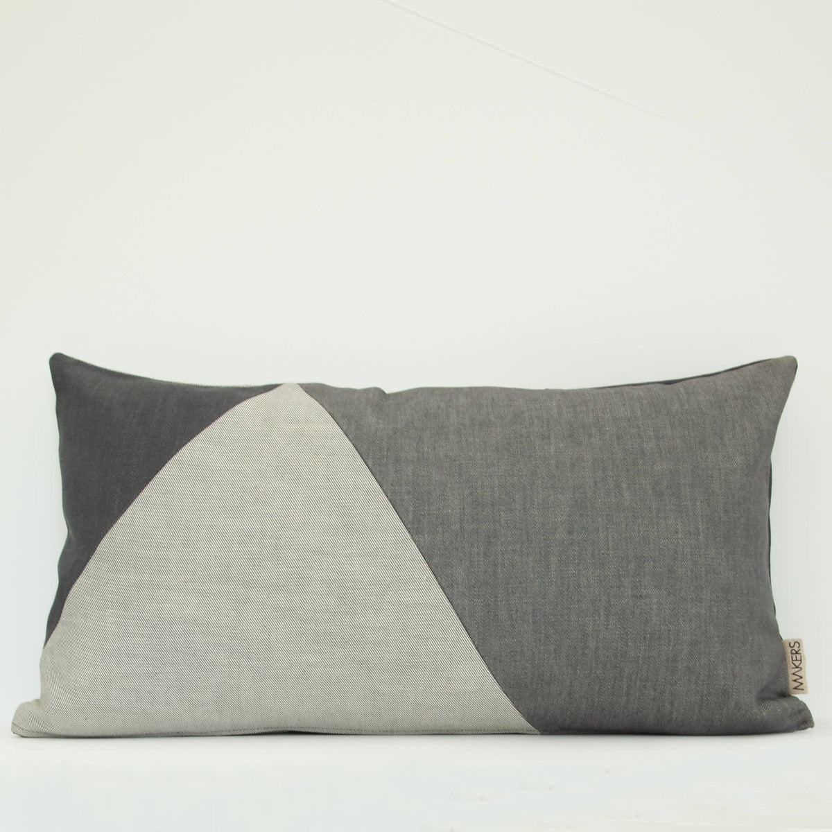 Pieced Grery Denim Wee Cushion