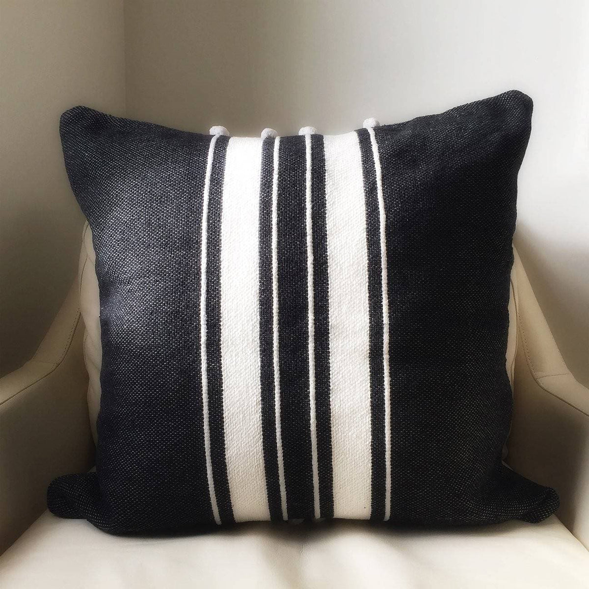 "Ribbon Stripe 20"" Throw Pillow"