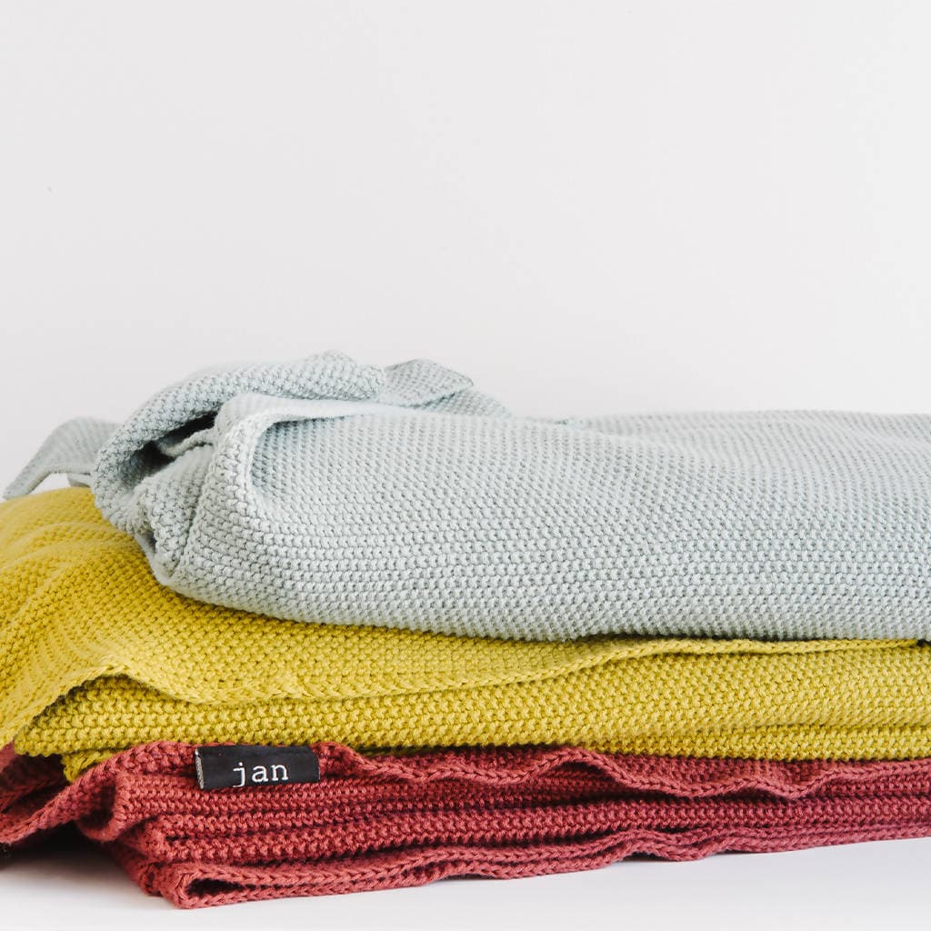 100% Cotton Stonewashed Jacquard Throws