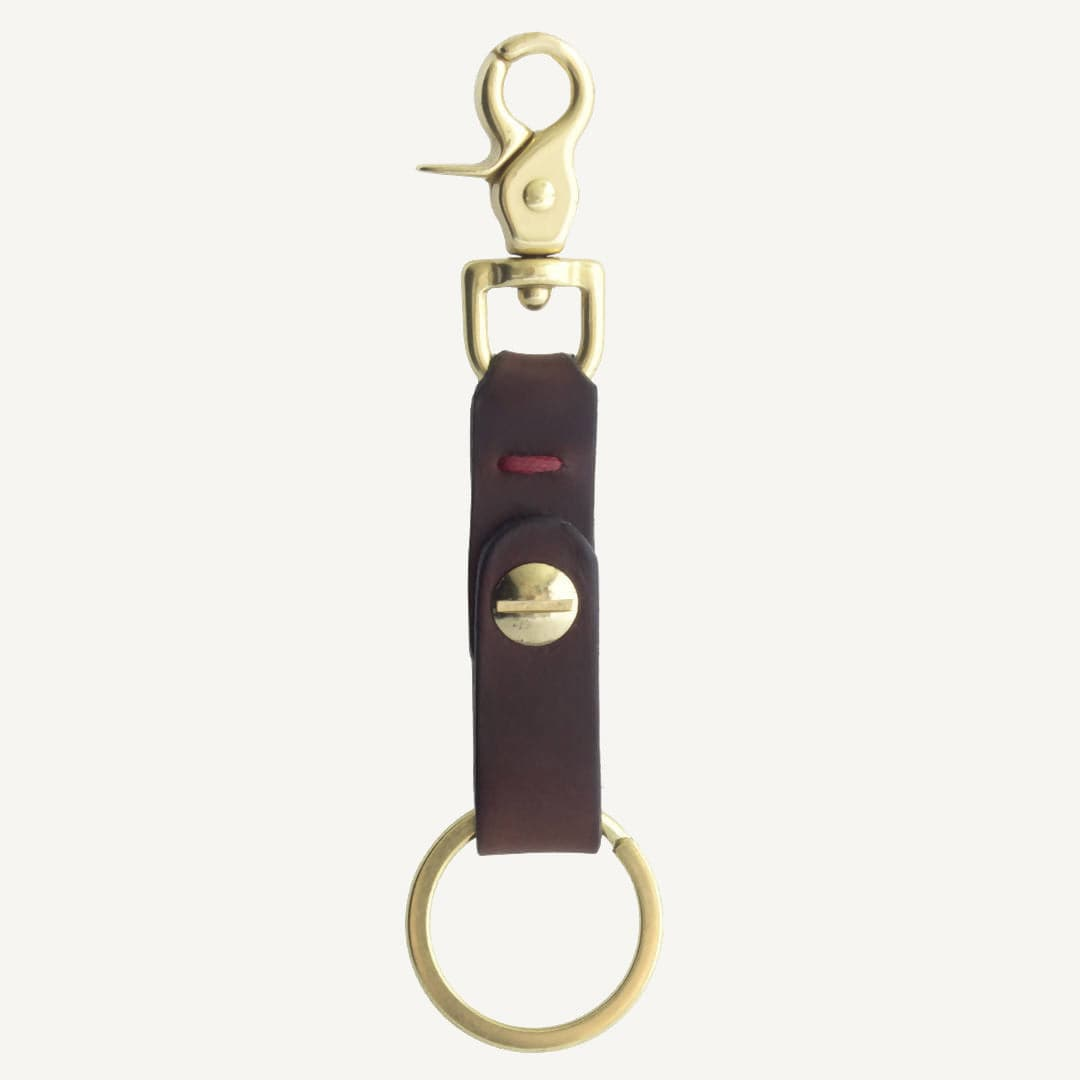 Swivel Clip Keychain (Brown)
