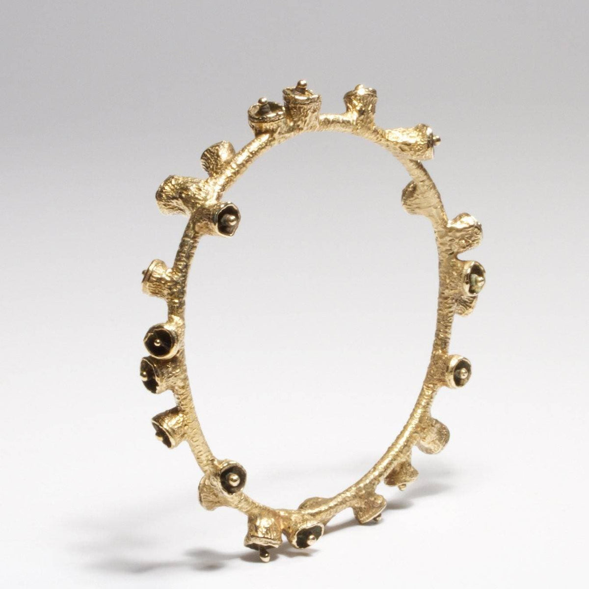Bell Pod Bangle - Brass