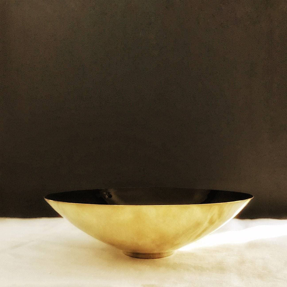 Enamel and Brass Plated Bowl - Low and Large