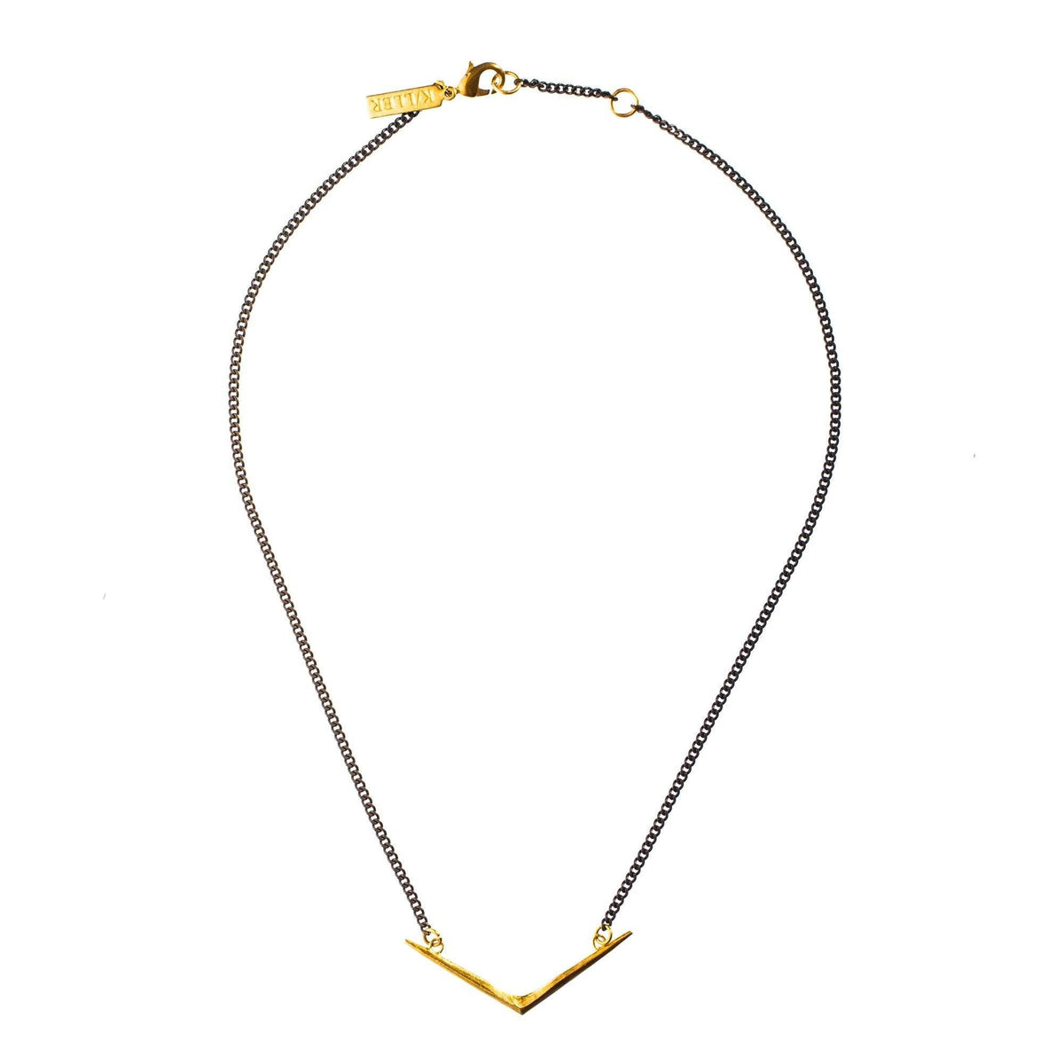 Small Ray Choker Brass
