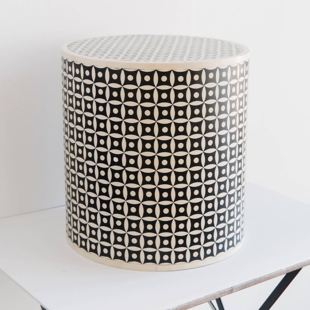 Bone Inlay Side Tables
