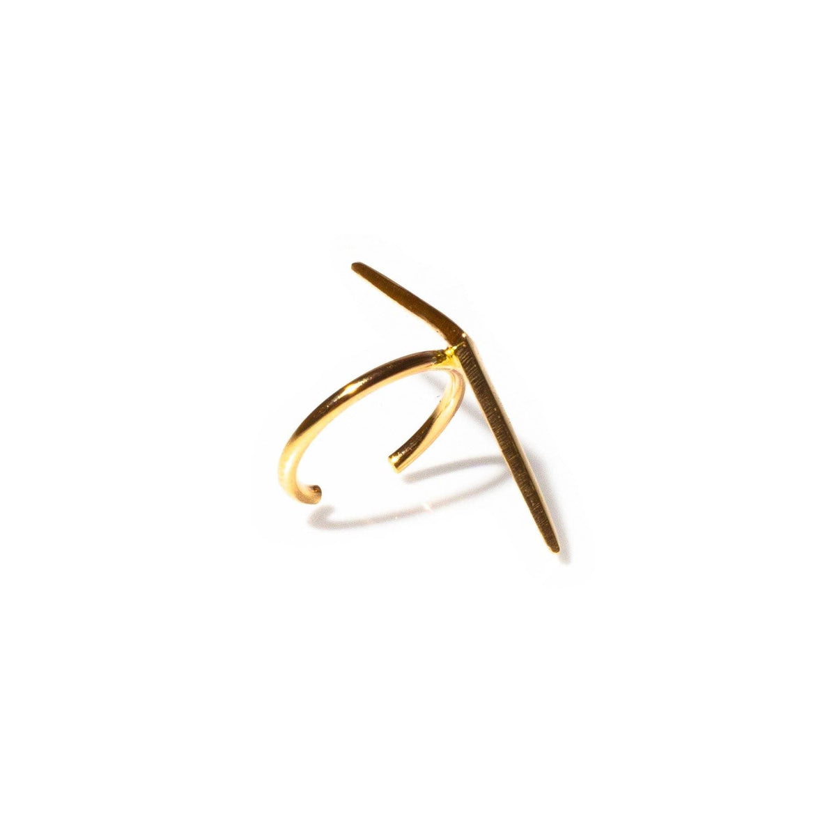 Vertical Ray Ear Cuff Gold