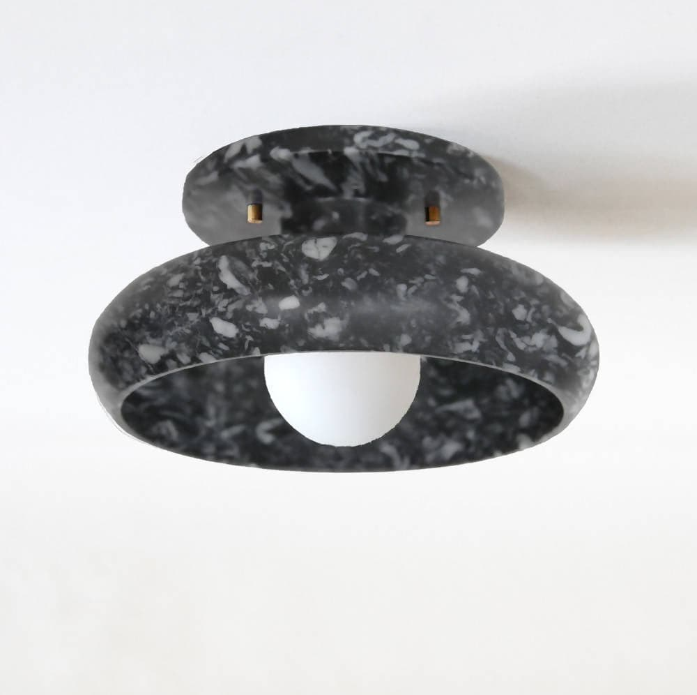 Piedra Grey Marble Flush-Mount