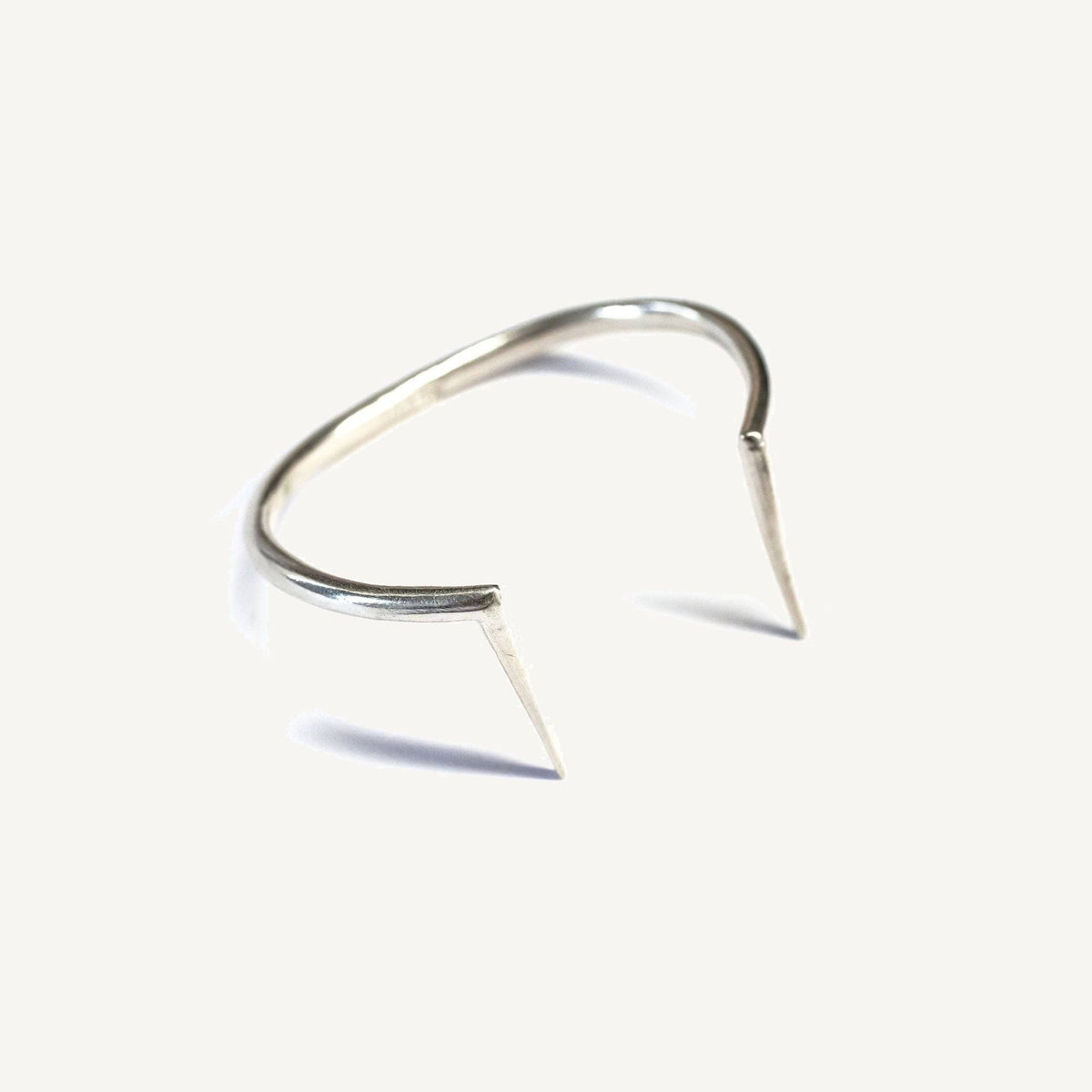 Spiked Curve Cuff Sterling