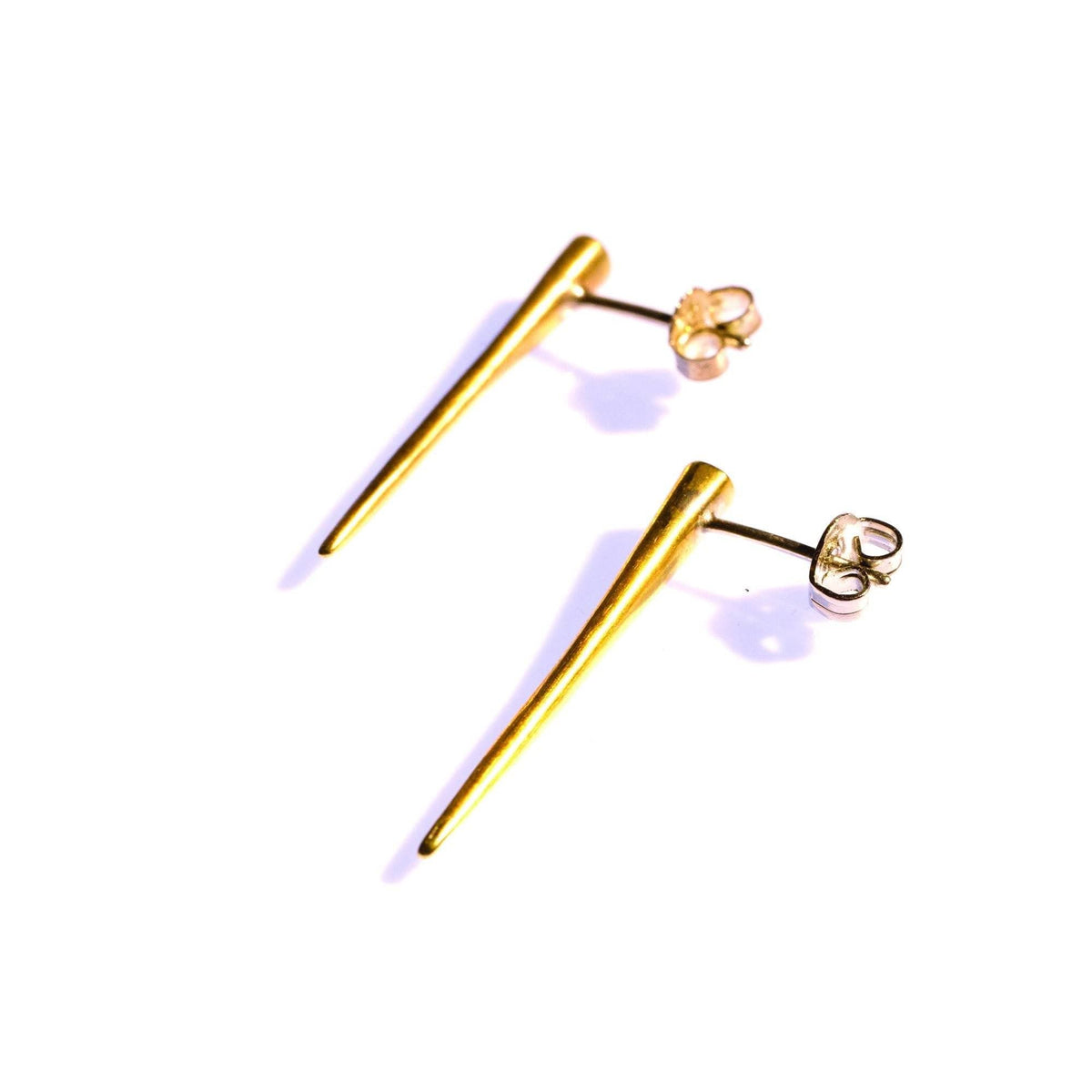 Small Quill Spike Studs Brass