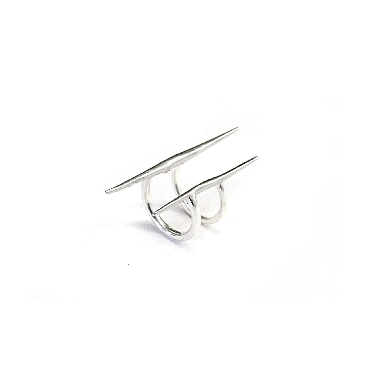 Parallel Quill Ring Sterling