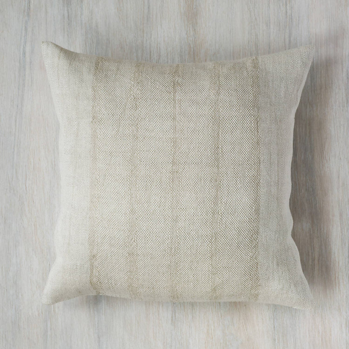 White Fretwork Handwoven Linen Pillow