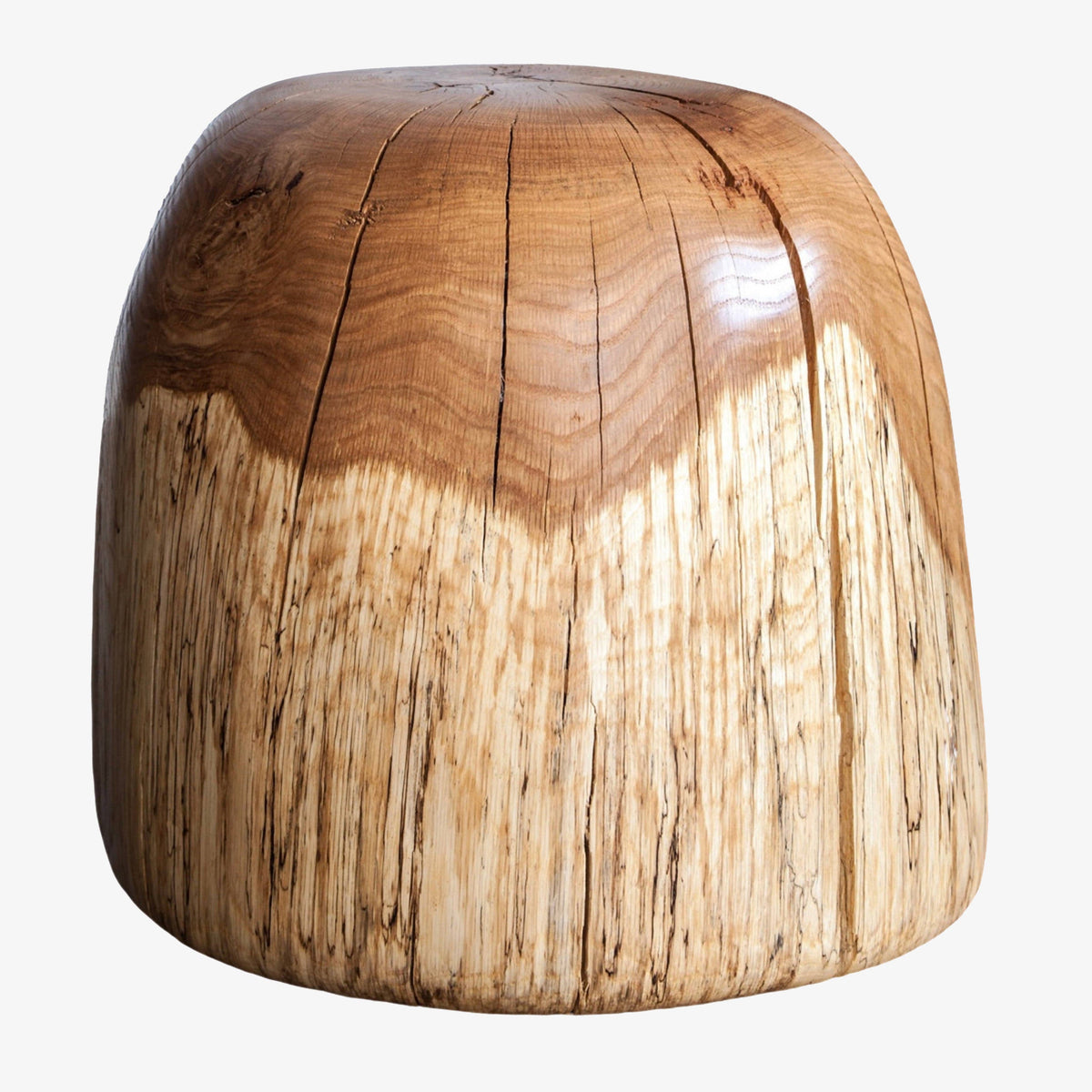 Spalted Oak Stool Rounded Top