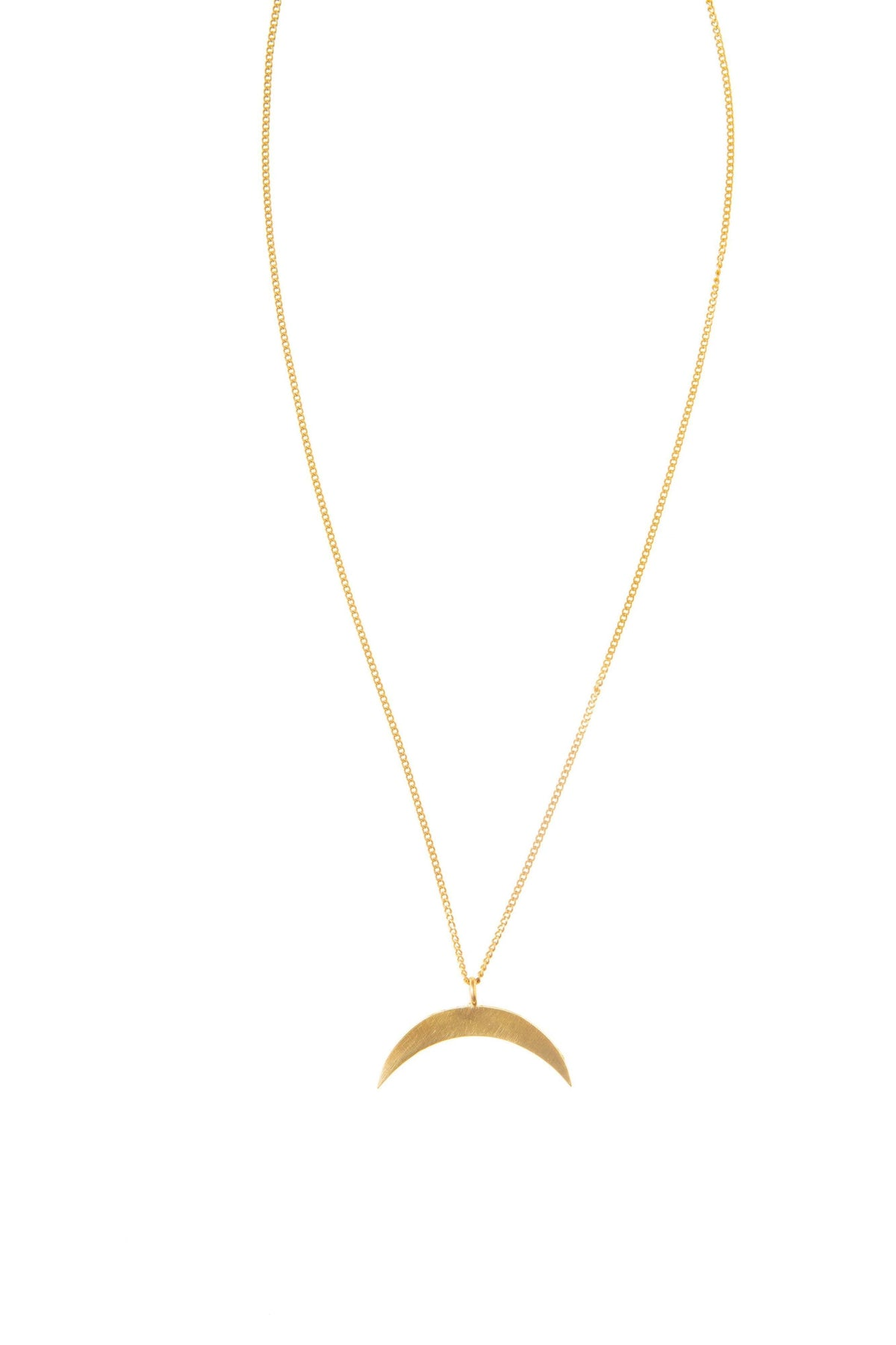 East to West Crescent Necklace