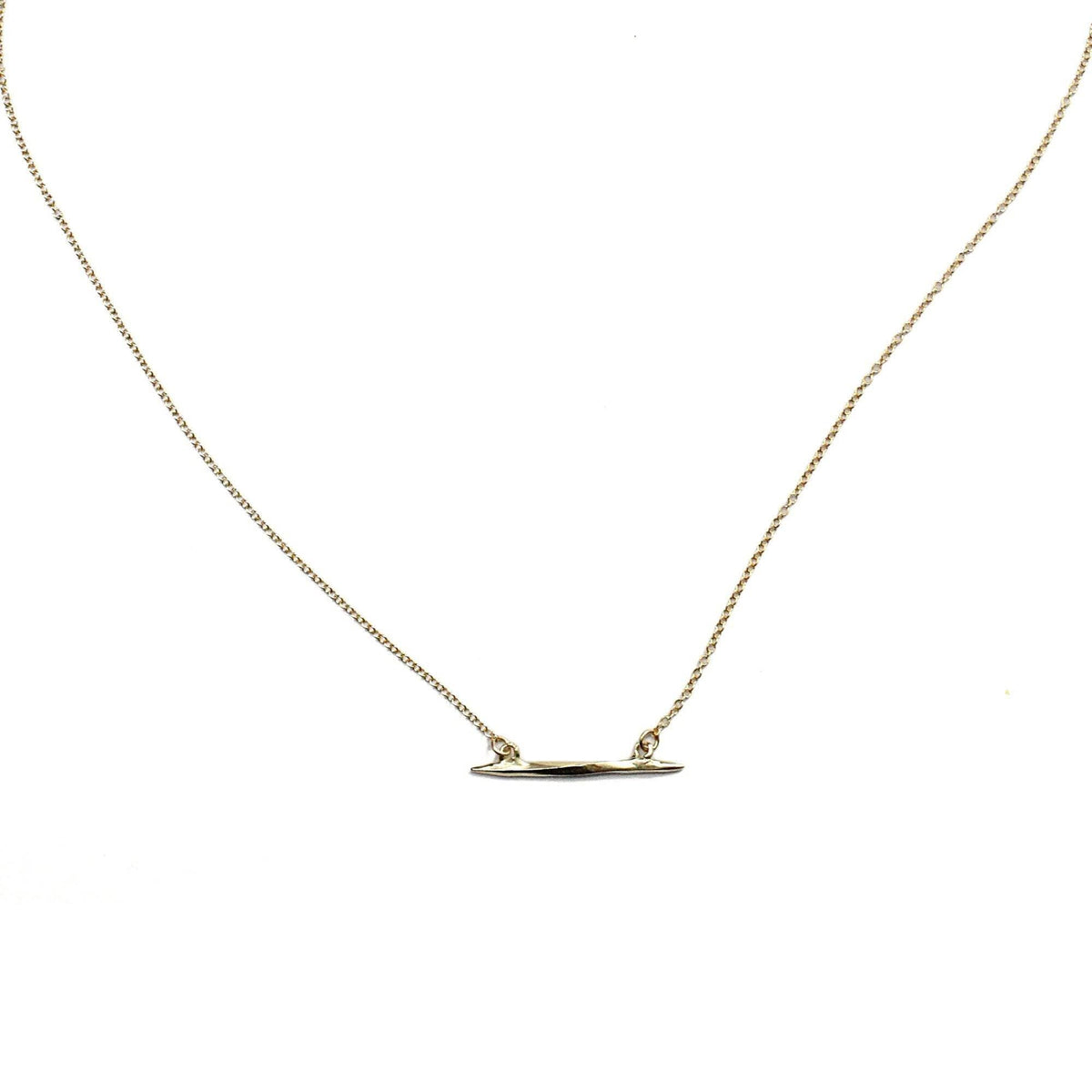 Lateral Twist Spike Necklace Gold