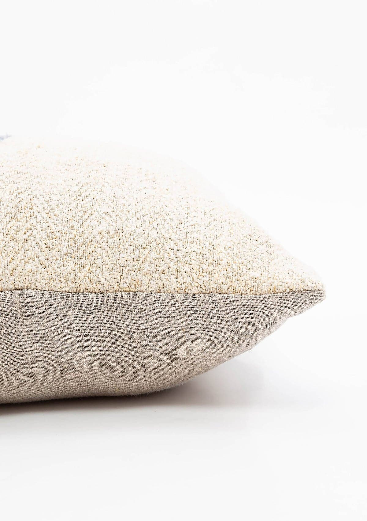 Blue Stripe Grain Sack Pillow, 18x29