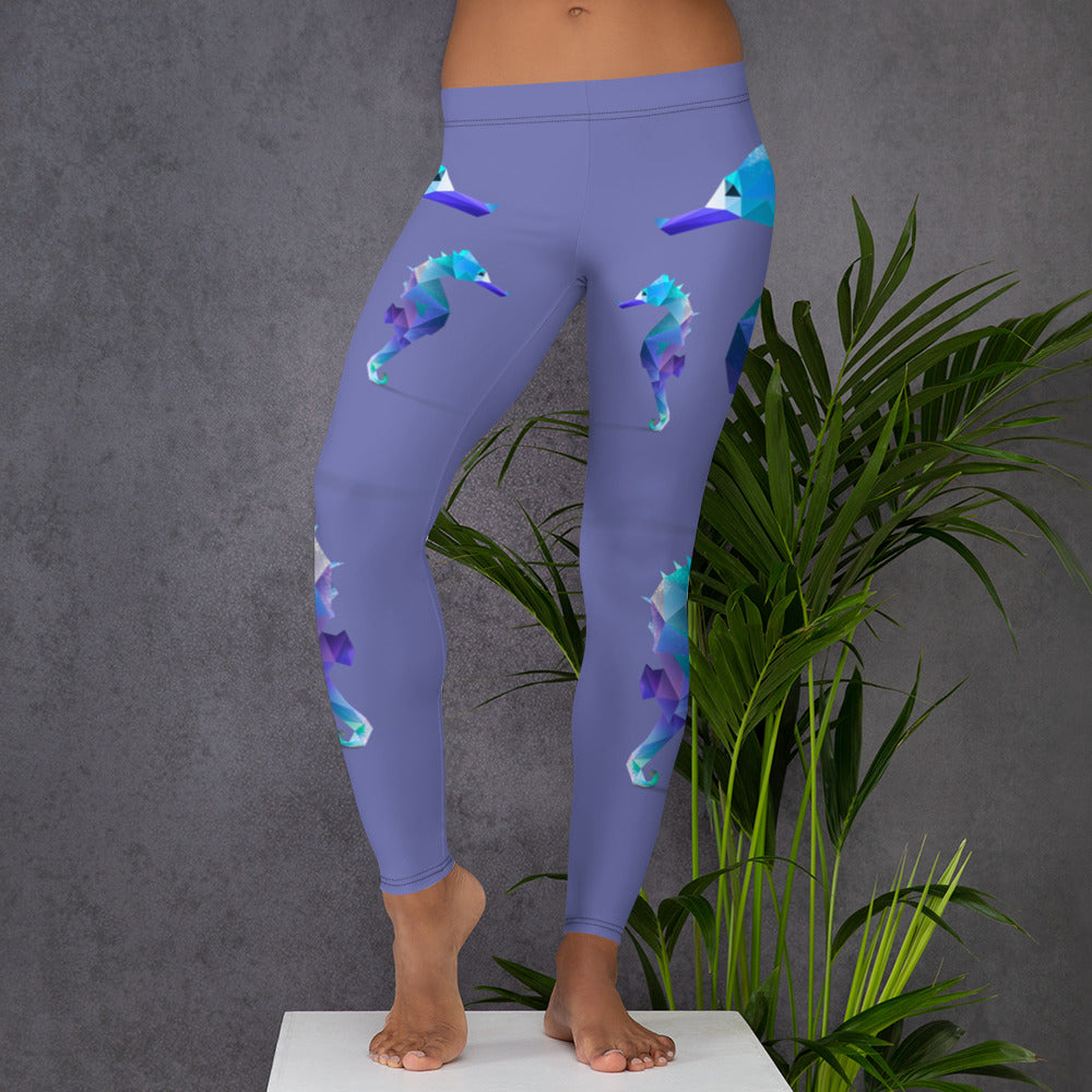 SEAHORSE (NO SLIP) LOW WAISTED LEGGINGS - Animal Spandex