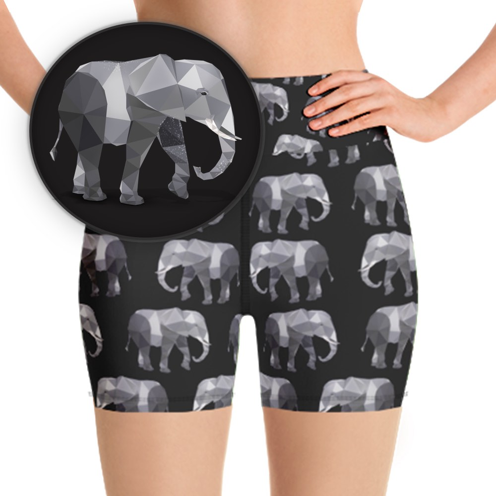 ELEPHANT ANIMAL WORKOUT SHORTS - Animal Spandex
