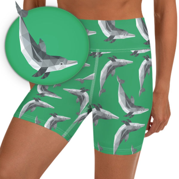SPINNER DOLPHIN ANIMAL WORKOUT SHORTS - Animal Spandex