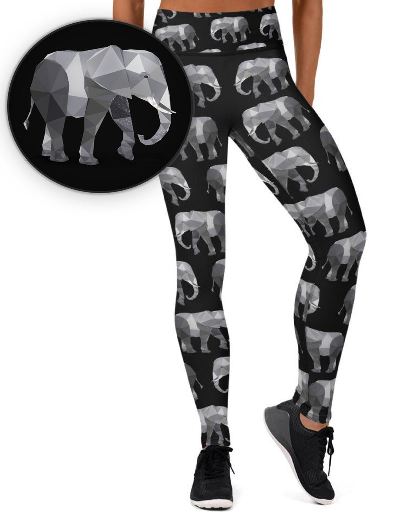 AFRICAN ELEPHANT WORKOUT LEGGINGS - Animal Spandex
