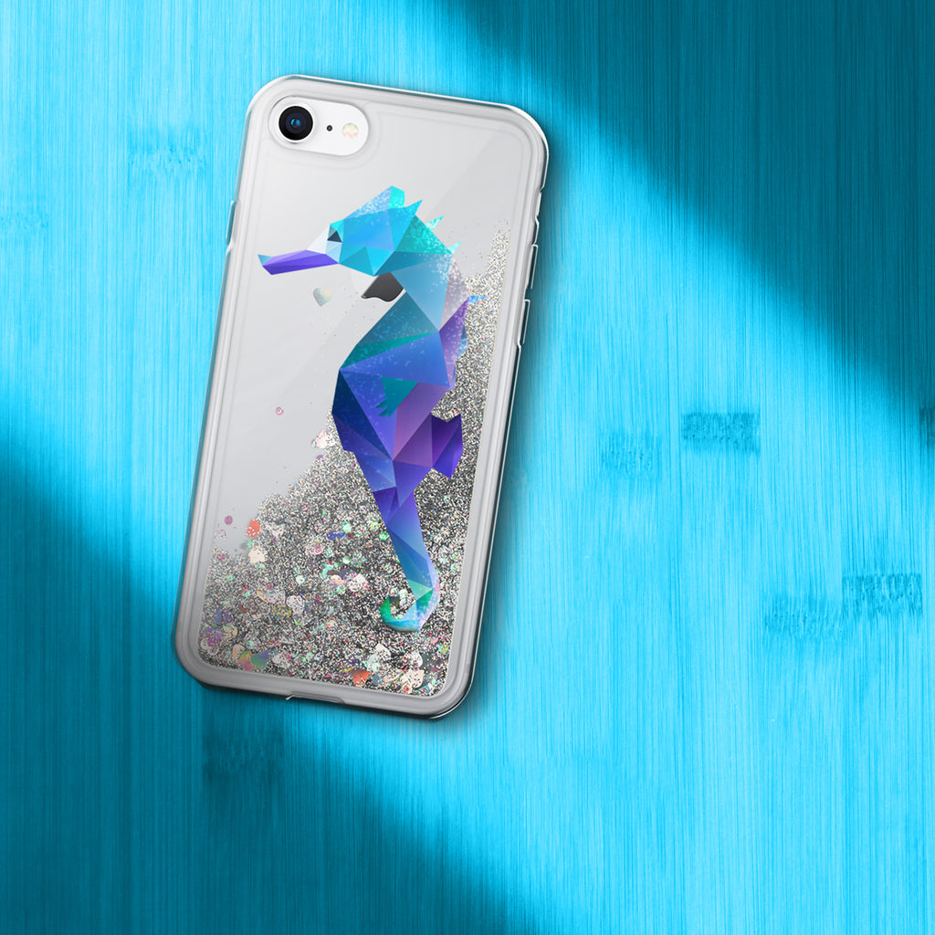 Limited Time Only Seahorse Liquid Glitter Phone Case - Animal Spandex