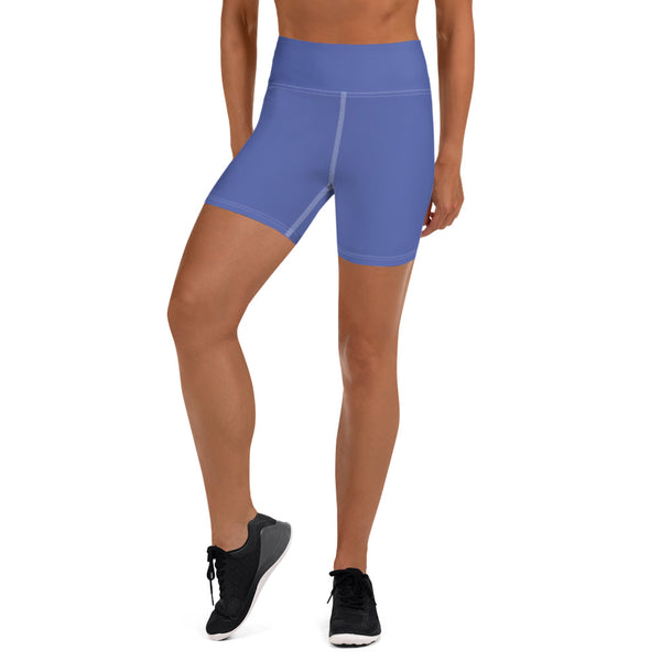 Medium Purple Yoga Shorts - Animal Spandex