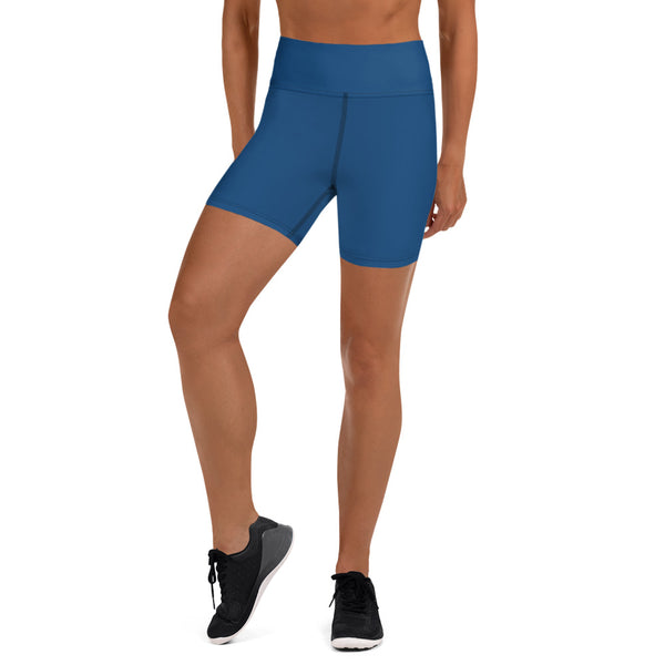 Navy Blue Yoga Shorts - Animal Spandex