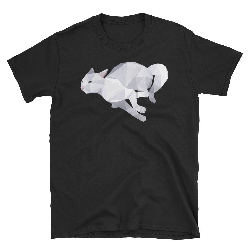 Unisex Running Cat T-Shirt - Animal Spandex