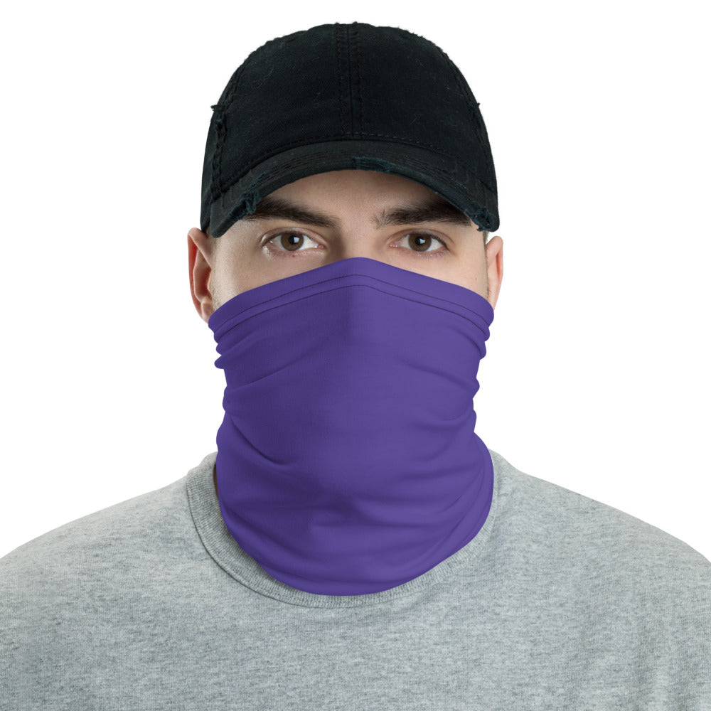 Purple Neck gaiter - Animal Spandex