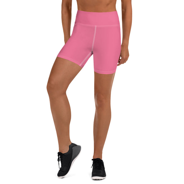 Pink Yoga Shorts - Animal Spandex
