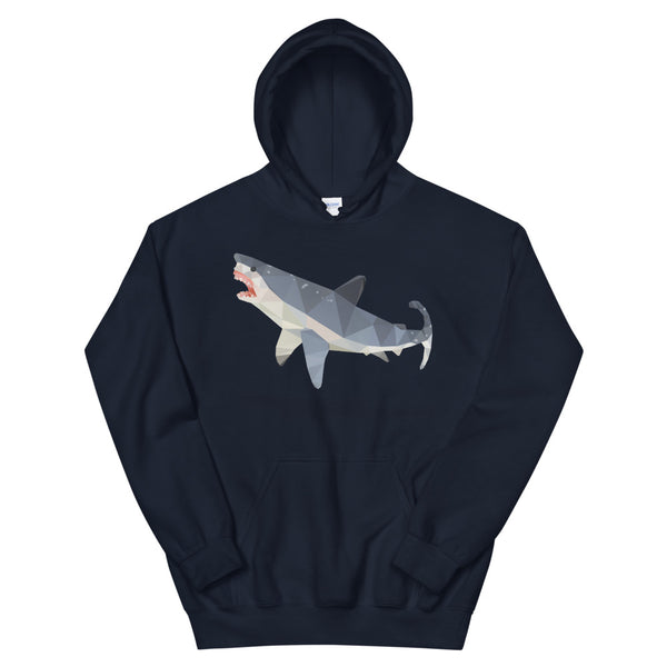 Great White Shark Hooded Sweatshirt - Animal Spandex