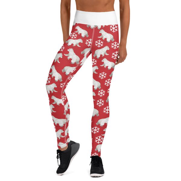 POLAR BEAR CHRISTMAS LEGGINGS - Animal Spandex