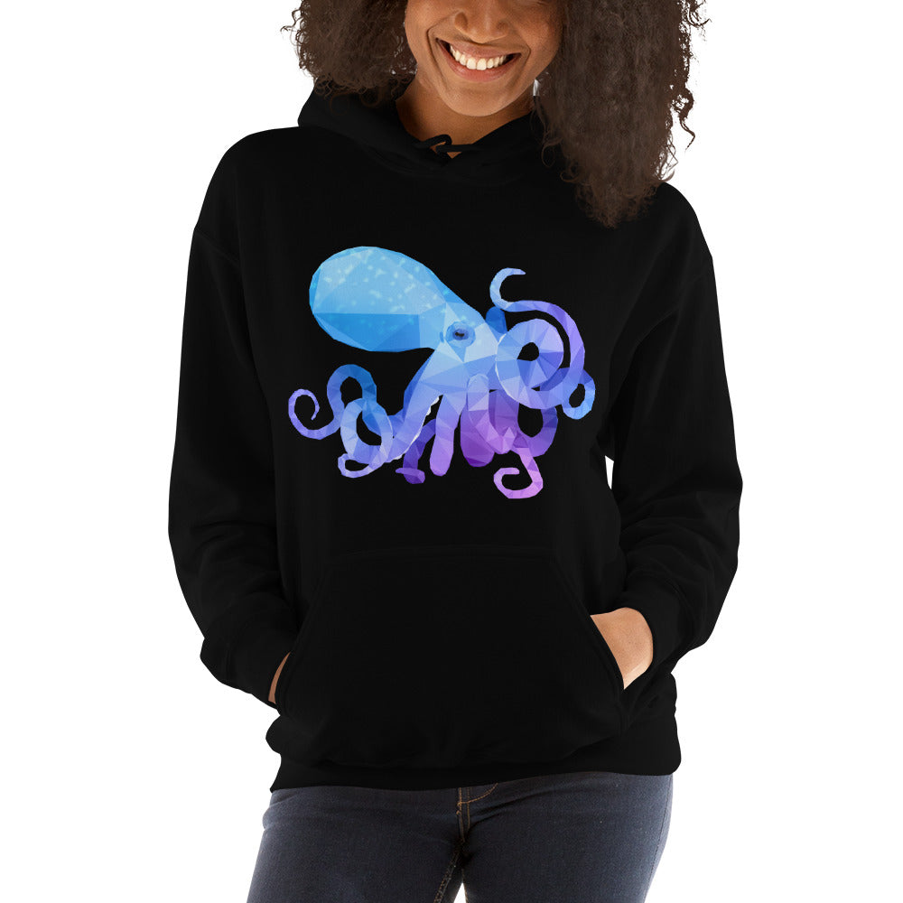Unisex Caribbean Reef Octopus Hooded Sweatshirt - Animal Spandex