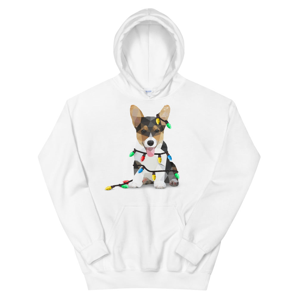 Corgi Holiday Christmas Unisex Hooded Sweatshirt - Animal Spandex