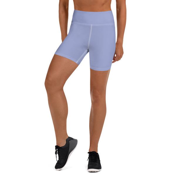 Light Purple Yoga Shorts - Animal Spandex